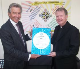 Michael Breen, Headmaster and Fr Mulholland, Chairman of the Board of Governors