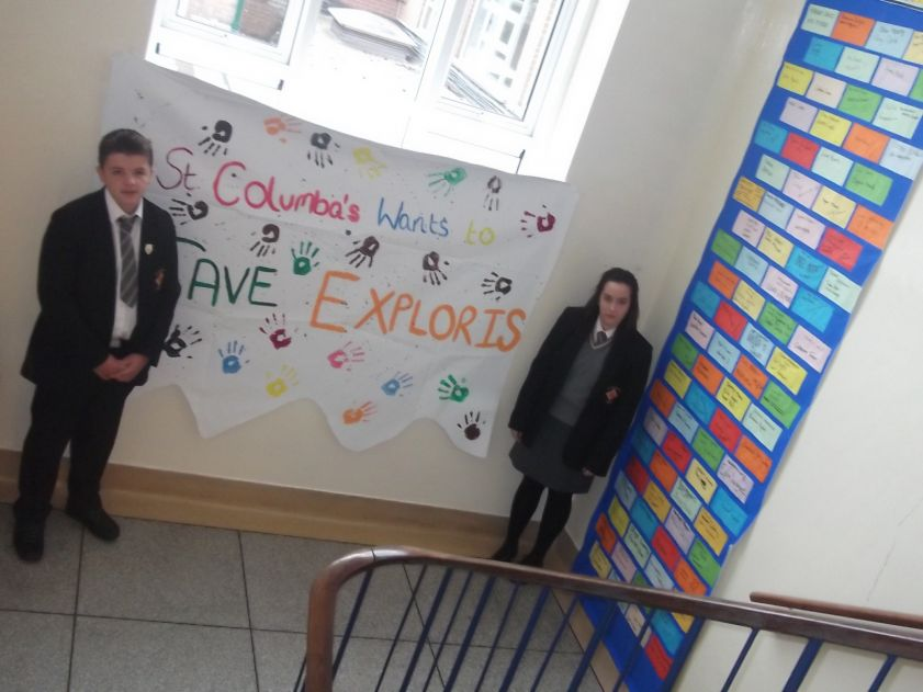 The Wall of Support with a 'brick' from each pupil